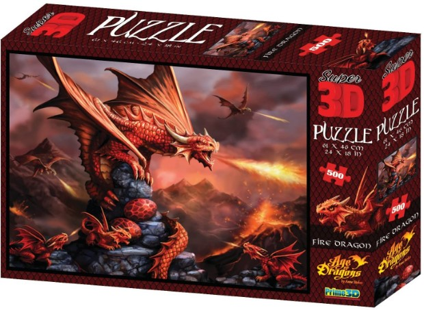 Fire Dragon 3D Jigsaw Puzzle
