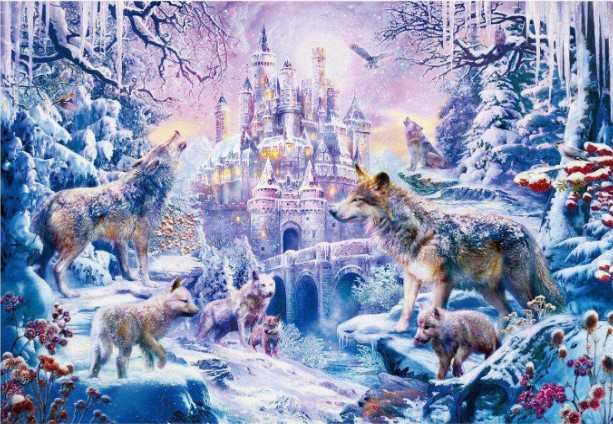 Wolf Castle Jigsaw Puzzle 1000 Pieces
