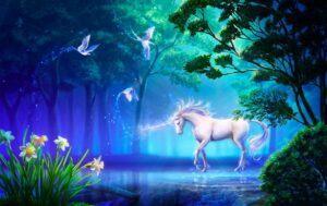 Moonlit Unicorn Jigsaw Puzzle 1000 PCS