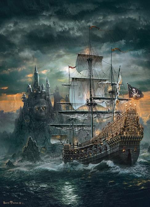 The Pirate Ship Clementoni 1500 PCS