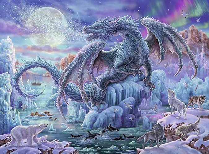 Mystical Ice Dragon Puzzle 500 PCS Ravensburger