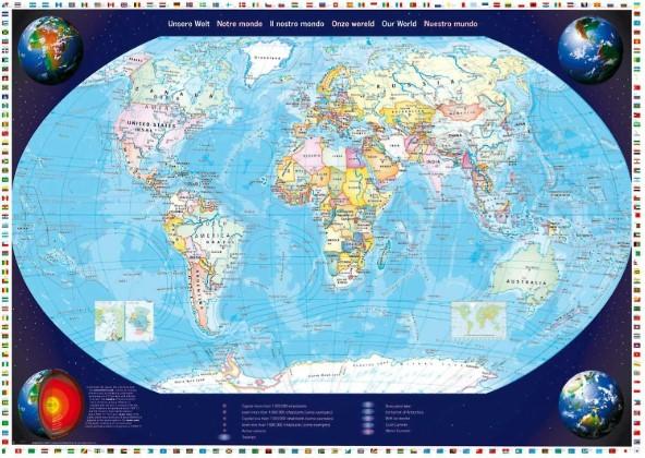 Schmidt Map of Our World Jigsaw Puzzle 2000 PCS