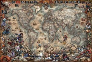 Educa Borrás Pirate's Map Jigsaw Puzzle 2000 PCS