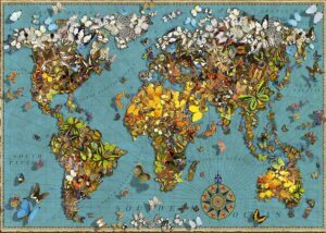 Ravensburger World of Butterflies Map Jigsaw Puzzle 500 PCS