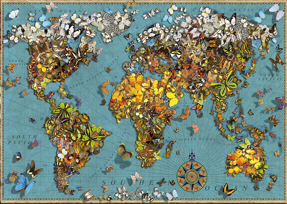 Ravensburger World of Butterflies Map Jigsaw Puzzle 500 PCS