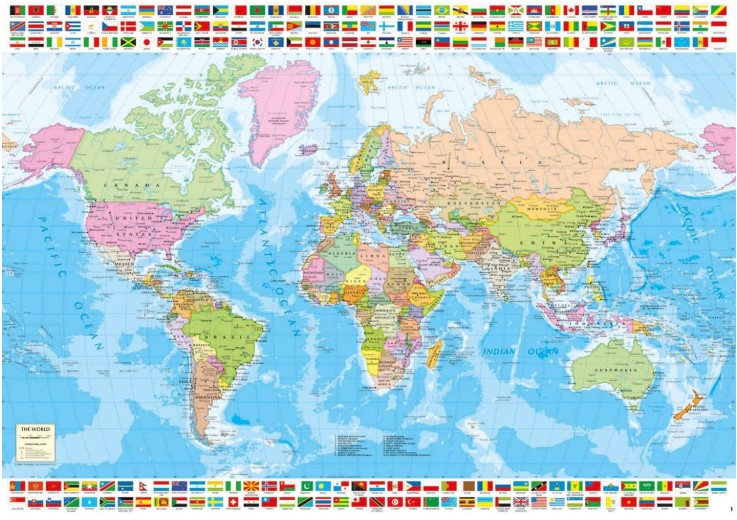 Educa Borras Map of The World with Flags Jigsaw Puzzle 1500 PCS
