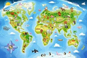 Castorland World Map Premium Maxi Jigsaw Puzzle 40 PCS