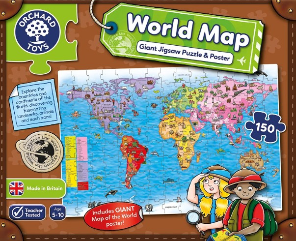 Orchard Toys World Map Puzzle 150 PCS