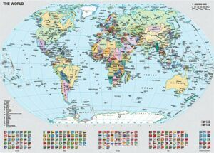 Ravensburger Political World Map Jigsaw Puzzle 1000 PCS