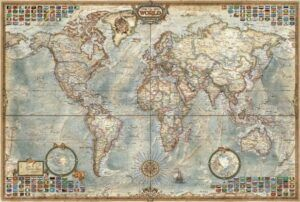 Educa Borras Map of The World Jigsaw Puzzle 1500 Pieces 4000 Pieces