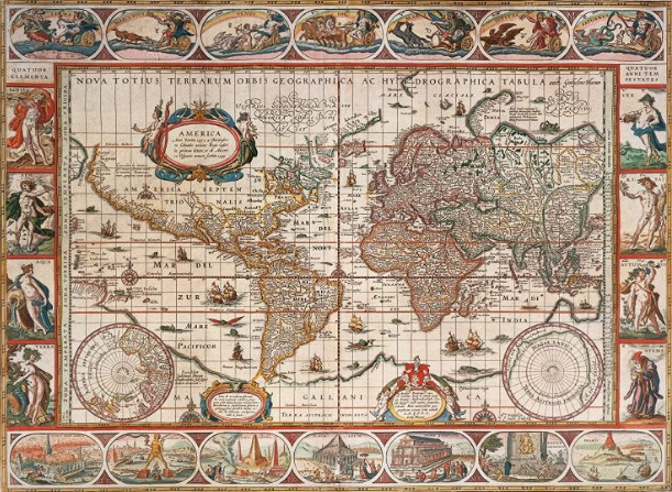 Ravensburger Map of the World From 1650 Jigsaw Puzzle 2000 PCS