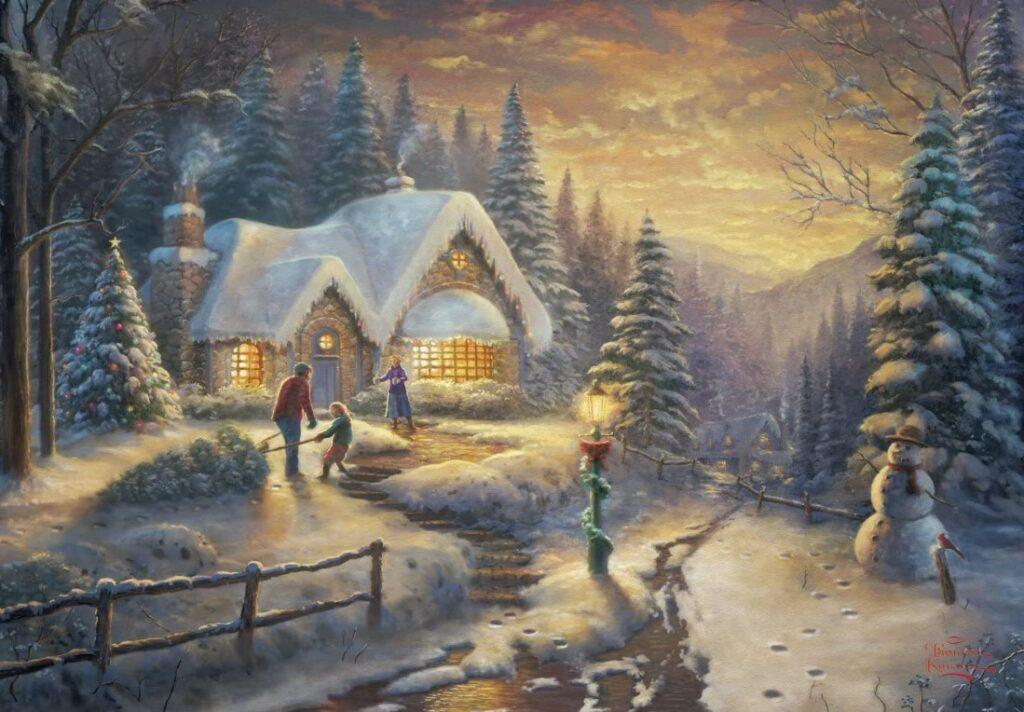 Country Christmas Homecoming Puzzle 1000 PCS
