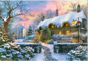 The Whitesmith's Cottage in Winter Puzzle 1000 PCS