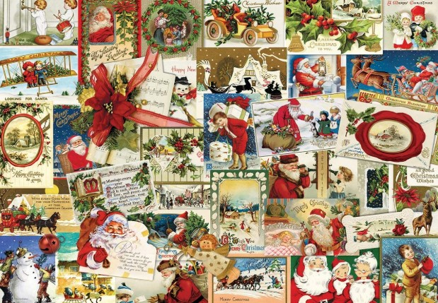 Vintage Christmas Cards Jigsaw Puzzle