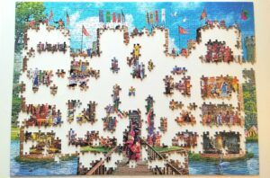 Gibsons Castle Cutaway Jigsaw Puzzle rooms