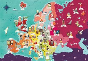 Clementoni Exploring Maps Puzzle - People in Europe 250 PCS
