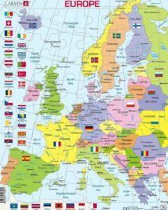 Larsen K2 Europe Political Map 48 PCS