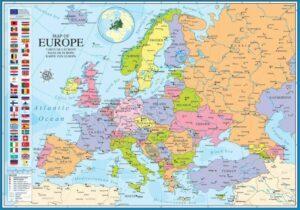EuroGraphics Map of Europe Jigsaw Puzzle 1000 PCS
