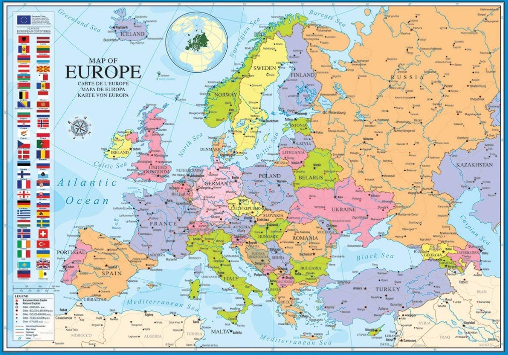 EuroGraphics Map of Europe Jigsaw Puzzle 1000 PCS