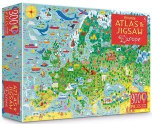Usborne Atlas and Jigsaw of Europe 300 PCS