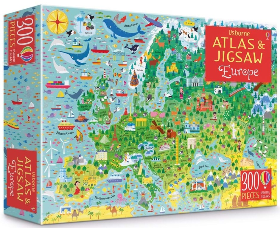 Usborne Atlas and Jigsaw of Europe 300 PCS