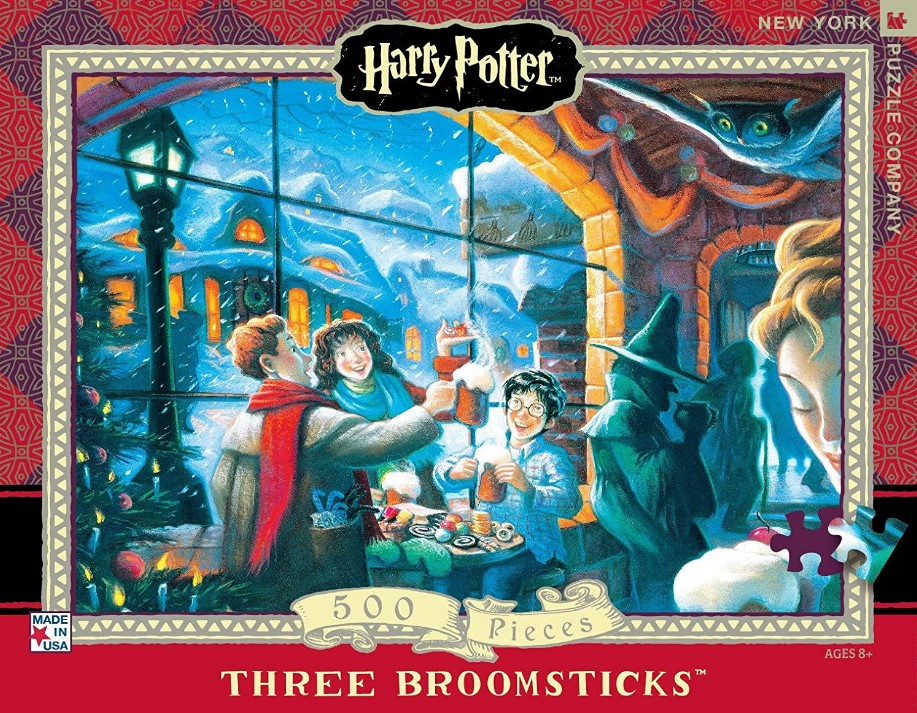 New York Puzzle Company Harry Potter Three Broomsticks Jigsaw Puzzle 500 PCS