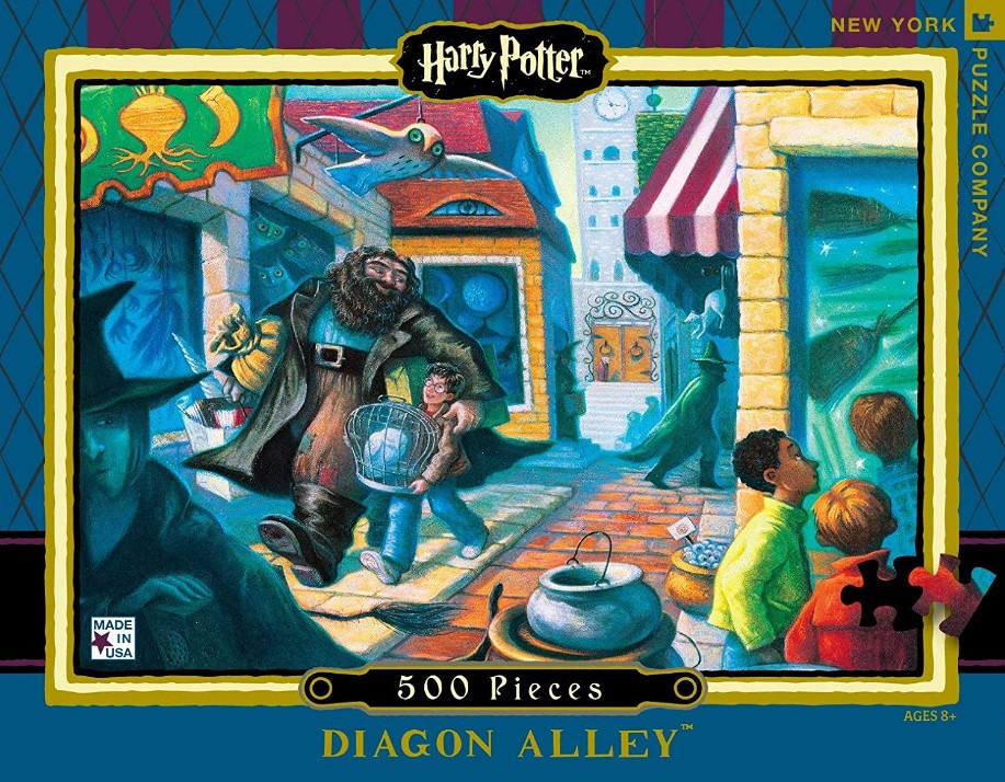New York Puzzle Company Harry Potter Diagon Alley Jigsaw Puzzle 500 PCS