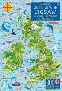 Usborne Atlas and Jigsaw Great Britain and Ireland 300 PCS