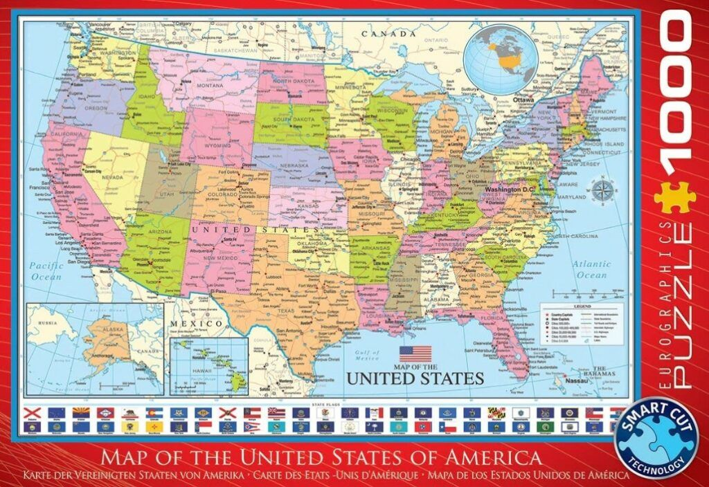 EuroGraphics Map of The United States Puzzle 1000 PCS