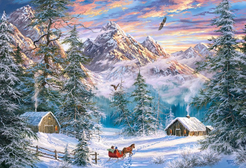 Castorland Mountain Christmas Puzzle 1000 PCS