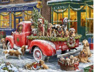 Vermont Christmas Company Doggone Christmas Puzzle 1000 PCS