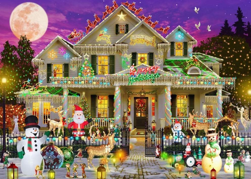 Vermont Christmas Company Happy Holidays Puzzle 1000 PCS