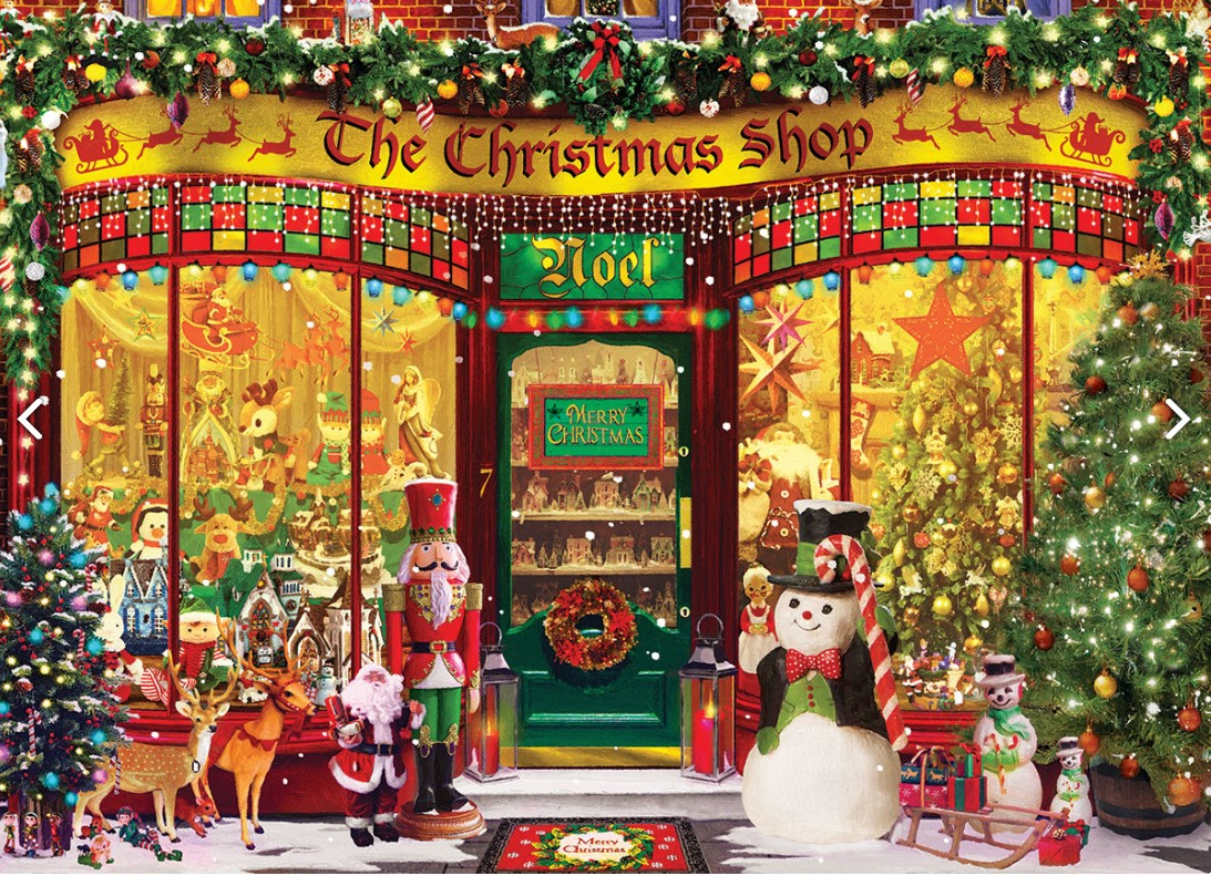 EuroGraphics The Christmas Shop Puzzle 1000 PCS