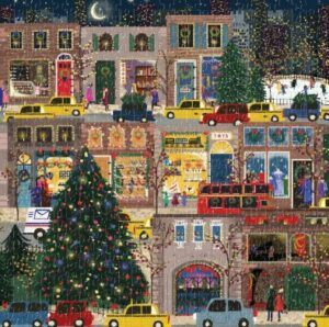 Galison Winter Lights Foil Puzzle 500 Pieces