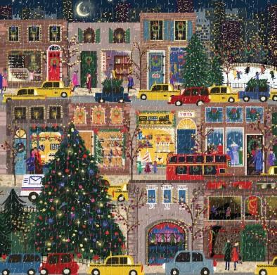 Galison Winter Lights Foil Puzzle 500 Pieces