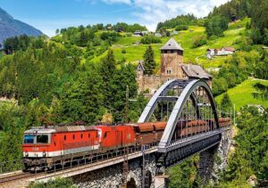Castorland Train On The Bridge Puzzle 500 Pieces