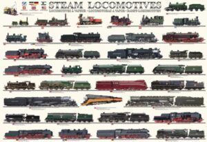 EuroGraphics Steam Locomotives Puzzle 1000 Pieces