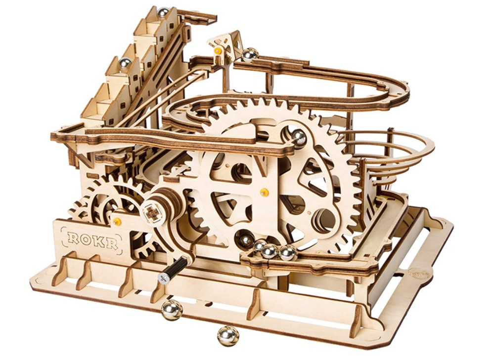 ROKR Hand Cranked Wooden Marble Coaster