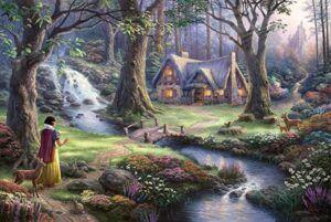Schmidt Disney Snow White Discovers the Cottage by Thomas Kinkade 1000 PCS