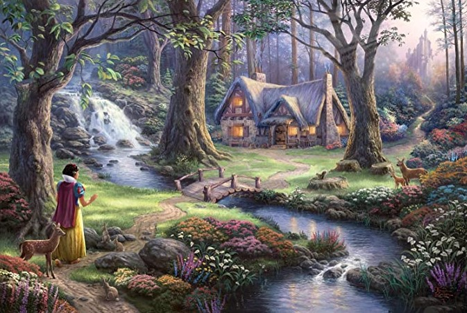 Schmidt Disney Snow White Discovers the Cottage by Thomas Kinkade 1000 PCS